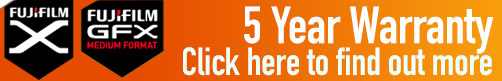 Fujifilm 5 Year Warranty On all Fujifilm X Series