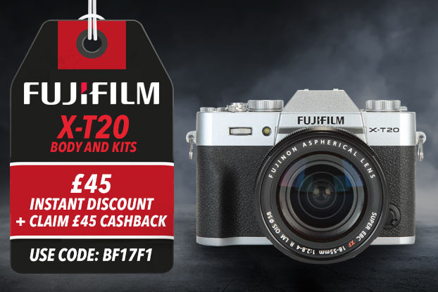 FUJIFILM X-T20 - £45 INSTANT DISCOUNT + CLAIM £45 CASHBACK - USE CODE BF17F1