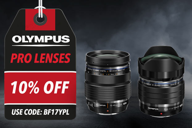 10% OFF ALL OLYMPUS PRO LENSES - USE CODE BFLYPL
