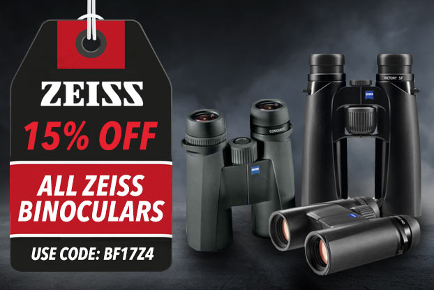 SAVE 10% ON ALL ZEISS BINOCULARS - USE CODE BF17Z4