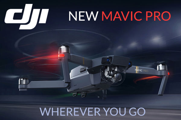 New DJI Mavic Pro Drone - Fits in the palm of your hand