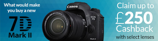Claim up to �250 Cashback on the new Canon EOS 7D mkII