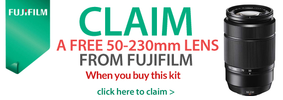 claim a free 50-230 lens with this kit