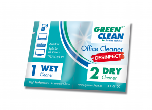 Green Clean Office Cleaner Wet and Dry Desinfect Pack of 10