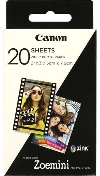Canon ZINK 2x3inch Photo Paper x20 Pack