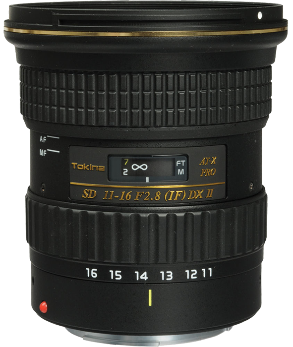 Tokina 11-16mm F2.8 AT-X 116 PRO DX II Lens - Canon Fit