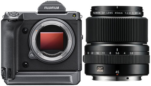Fujifilm GFX 100 body with GF 45mm F2.8 R WR Lens