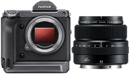 Fujifilm GFX 100 body with GF 63mm f2.8 R WR FUJINON Lens