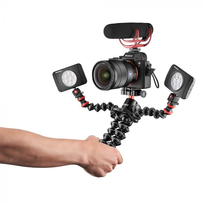 Joby GorillaPod 3K PRO Rig with two LED Lights