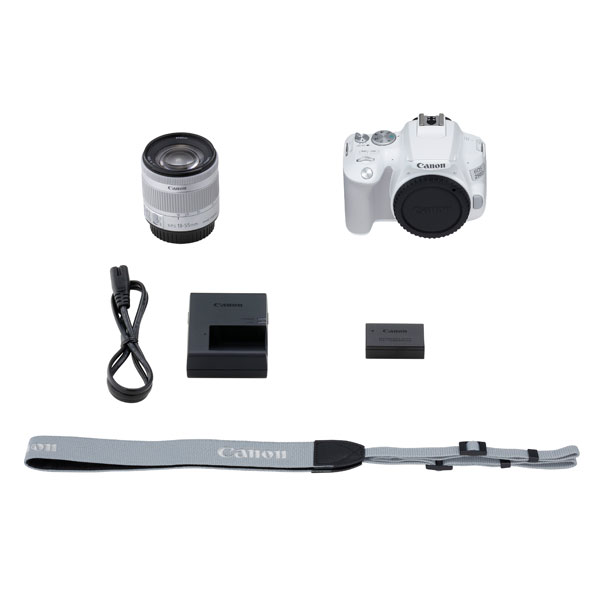 Canon EOS 250D Digital Camera with EF-S 18-55mm f4-5.6 IS STM Lens Kit - White