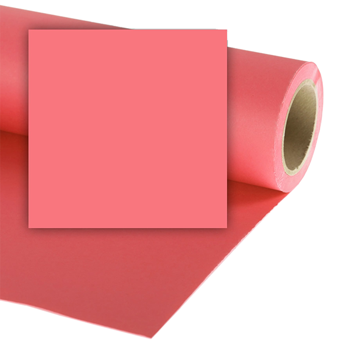 Colorama 1.35 X 11M Background Paper - Coral Pink