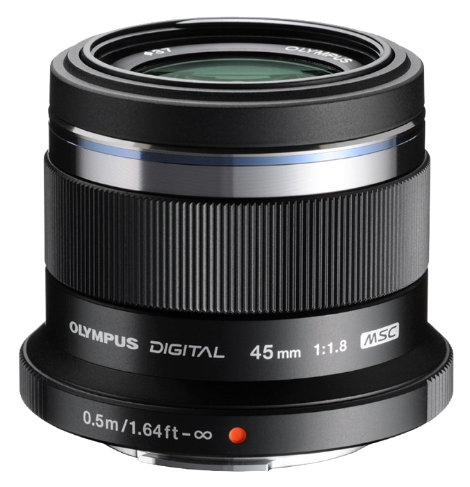 Olympus 45mm f1.8 ZUIKO Digital Micro Four Thirds lens  - Black
